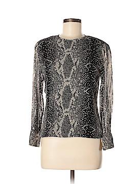 Dana Buchman Long Sleeve Silk Top Size 4 (Petite)