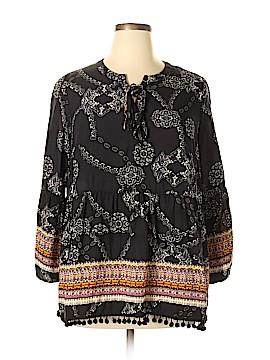 Calessa Long Sleeve Blouse Size 2X (Plus)