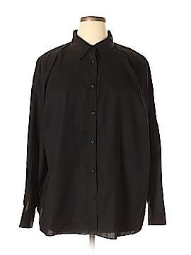 Champs Long Sleeve Button-Down Shirt Size 3X (Plus)