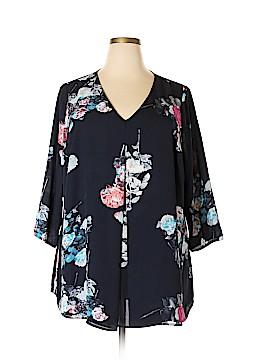 DR2 3/4 Sleeve Blouse Size 2X (Plus)