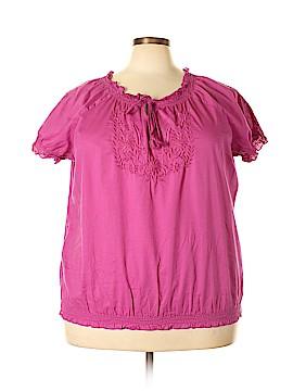 SONOMA life + style Short Sleeve Blouse Size 2X (Plus)