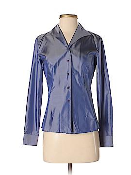 INC International Concepts Long Sleeve Silk Top Size 4 (Petite)