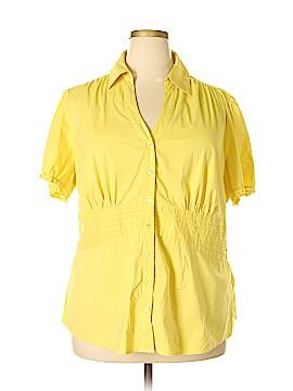 INC International Concepts Short Sleeve Button-Down Shirt Size 24 (Plus)