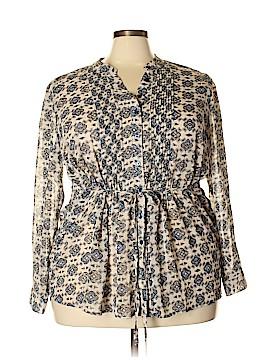 Style&Co Long Sleeve Blouse Size 2X (Plus)