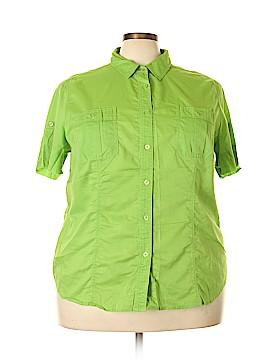 MICHAEL Michael Kors Short Sleeve Button-Down Shirt Size 22 (Plus)