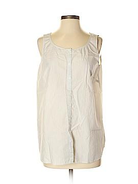 Lafayette 148 New York Sleeveless Button-Down Shirt Size S