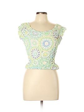 J. McLaughlin Short Sleeve Silk Top Size L