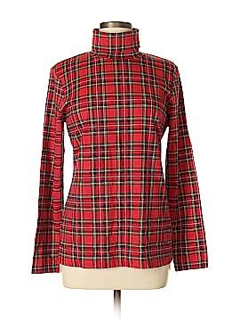 Karen Scott Long Sleeve Silk Top Size M
