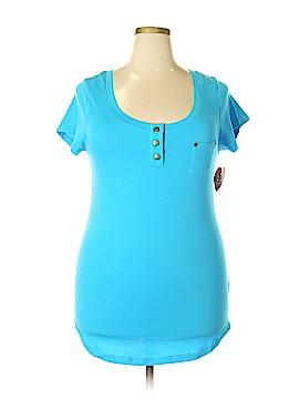 Splash Short Sleeve Henley Size 2X (Plus)