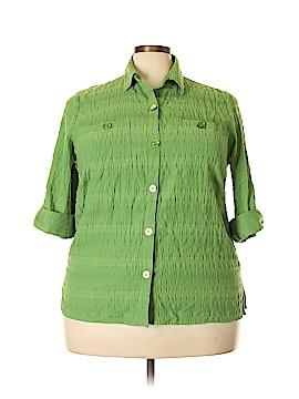 LARRY LEVINE for Dressbarn 3/4 Sleeve Button-Down Shirt Size 3X (Plus)