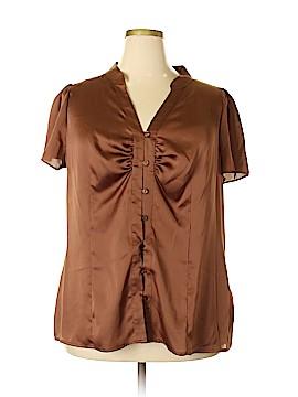Worthington Short Sleeve Blouse Size 2X (Plus)