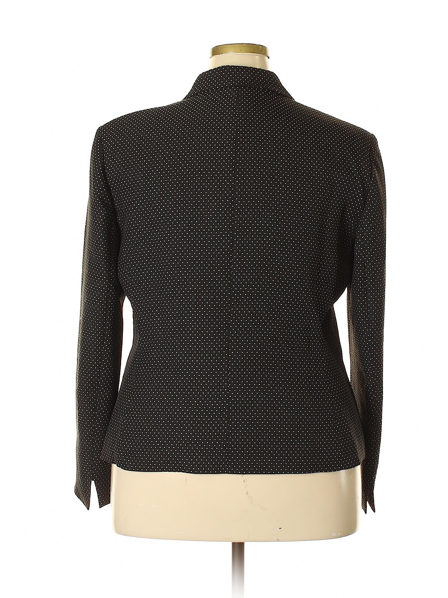 9a66d7424b Black Label by Evan Picone 100% Polyester Polka Dots Black Blazer Size 18  (Plus) - 74% off