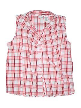 White Stag Sleeveless Button-Down Shirt Size 4X (Plus)