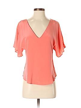 Aaron Ashe Short Sleeve Silk Top Size XS