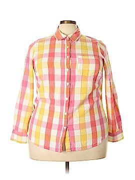 Kim Rogers Long Sleeve Button-Down Shirt Size 1X (Plus)