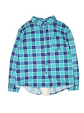 Passport Long Sleeve Button-Down Shirt Size 2X (Plus)