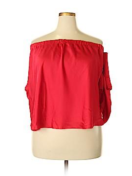 RACHEL Rachel Roy 3/4 Sleeve Blouse Size 3X (Plus)