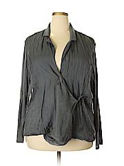J.jill Women Long Sleeve Silk Top Size 2X (Plus)