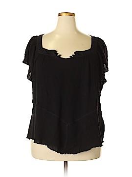Energe World Wear Short Sleeve Blouse Size 3X (Plus)
