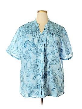 Millenium Short Sleeve Button-Down Shirt Size 3X (Plus)