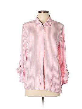 Velvet Heart Long Sleeve Button-Down Shirt Size L