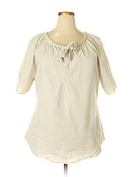 Caribbean Joe Short Sleeve Blouse Size 1X (Plus)