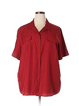 Karen Scott Short Sleeve Blouse Size 2X (Plus)