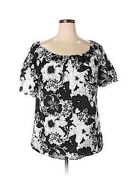 Mileage Short Sleeve Blouse Size 3X (Plus)