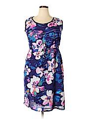 Simply Vera Vera Wang Women Casual Dress Size 1X (Plus)