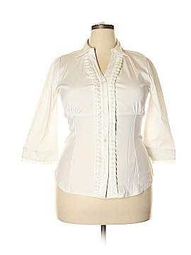 Antilia Femme 3/4 Sleeve Button-Down Shirt Size 1X (Plus)