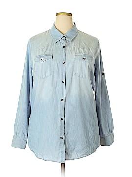 Xhilaration Long Sleeve Button-Down Shirt Size 1X (Plus)