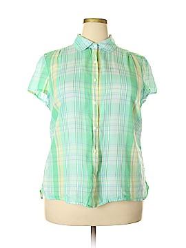 L.L.Bean Short Sleeve Button-Down Shirt Size 1X (Plus)