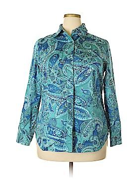 Jones New York Signature Long Sleeve Button-Down Shirt Size 1X (Plus)