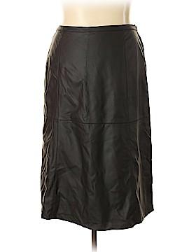 Susan Graver Faux Leather Skirt Size 1X (Plus)