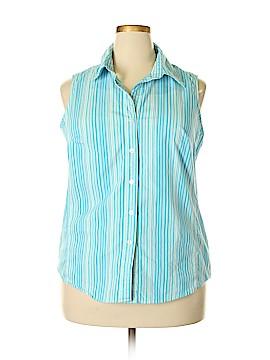 George Sleeveless Button-Down Shirt Size 2X (Plus)