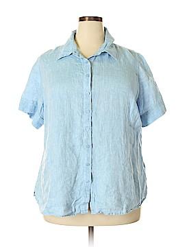 Coldwater Creek Short Sleeve Button-Down Shirt Size 2X (Plus)