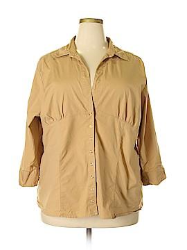 Quizz Woman 3/4 Sleeve Button-Down Shirt Size 22 (Plus)