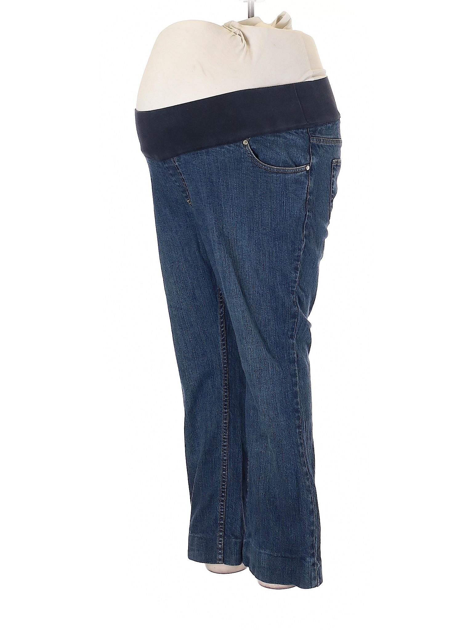 69d787ded6ba2 Liz Lange Maternity for Target Solid Blue Jeans Size 16 (Maternity ...