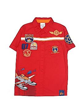 Disney Short Sleeve Button-Down Shirt Size 5 - 6