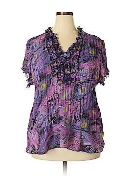 Allison Taylor Short Sleeve Blouse Size 2X (Plus)