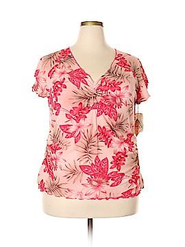 Jamaica Bay Short Sleeve Top Size 2X (Plus)