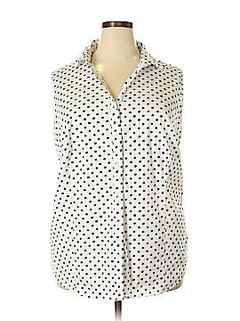 Charter Club Short Sleeve Button-Down Shirt Size 24 (Plus)