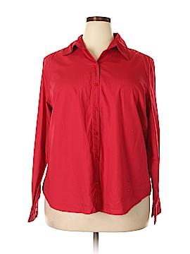 Karen Scott Sport Long Sleeve Button-Down Shirt Size 2X (Plus)