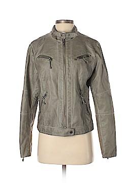Studio M by Max Studio Faux Leather Jacket Size M