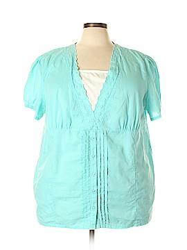 Liz & Me Short Sleeve Blouse Size 2X (Plus)