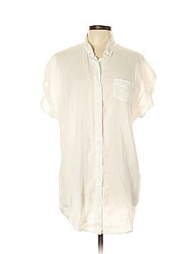 CAbi Short Sleeve Button-Down Shirt Size L