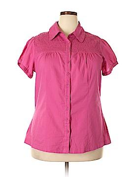 SONOMA life + style Short Sleeve Button-Down Shirt Size 1X (Plus)