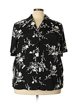 Liz Baker Short Sleeve Blouse Size 24 (Plus)