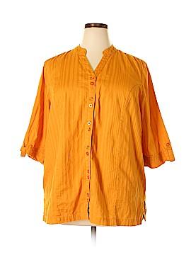 Liz & Me Short Sleeve Button-Down Shirt Size 1X (Plus)