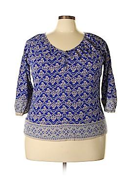 Valerie Bertinelli 3/4 Sleeve Blouse Size 1X (Plus)